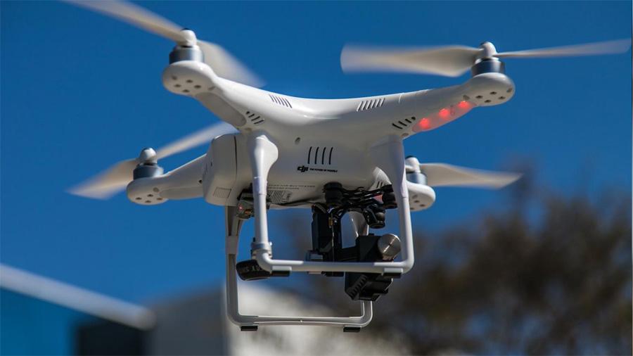 Tournage avec drone